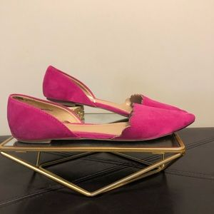 Women's Hot Pink Pointed Toe Flats